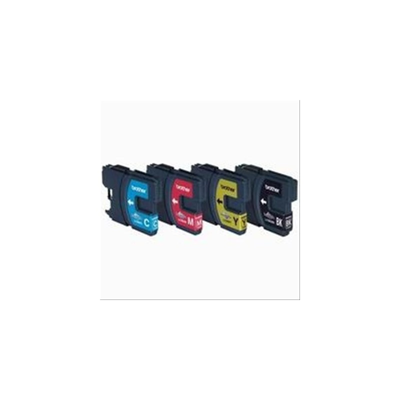 CARTUCHO TINTA BROTHER LC980 NEGRO + 3 COLORES BROTHER LC980 - Imagen 1