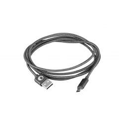 CABLE USB 2.0 TIPO AM-MICRO USB BM SILVER HT 1.5M 93639 - Imagen 1