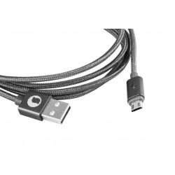 CABLE USB 2.0 TIPO AM-MICRO USB BM SILVER HT 1.5M 93639 - Imagen 2