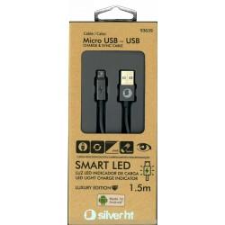 CABLE USB 2.0 TIPO AM-MICRO USB BM SILVER HT 1.5M 93639 - Imagen 3