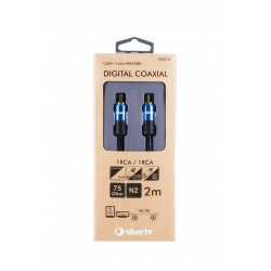 CABLE DIGITAL COAXIAL - 1RCA A 1RCA SILVER TH 2M 93014 - Imagen 2