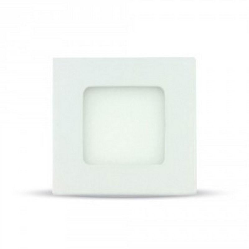PANEL LED DOWNLIGHT EMPOTRABLE SLIM V-TAC CUADRADO 84*84*12MM LUZ CALIDA 3W EQUI - Imagen 1