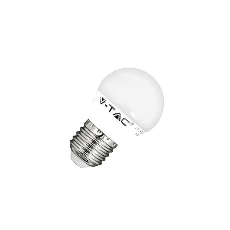 BOMBILLA LED E27 G45 V-TAC  5,5W 40W LUZ CALIDA 470LM GOLFBALL L7407 - Imagen 1