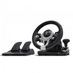 Volante De Carreras Con Pedales Spirit Of Gamer Race Pro Wheel 2 - Motor Doble Vibración - Compatible Xbox One / Ps4 / Ps3 / Pc