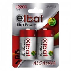 Pack 2 Pilas Alcalinas LR20C ELBAT - Imagen 1