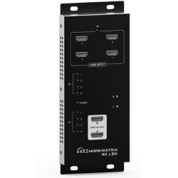 Hdmi 4x2 4k Matrix Switcher,