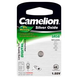 Boton Oxido plata SR58W 1.55V 0% Mercurio (1 pcs) Camelion - Imagen 1