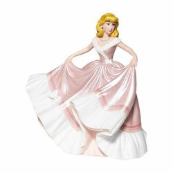 Figura enesco disney la cenicienta la cenicienta con vestido rosa - Imagen 1